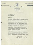 09/09/1947 Letter from The Salvation Army by Ernest A. Marshall