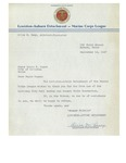 09/14/1947 Letter from the Lewiston-Auburn Detatchment of the Marine Corps League