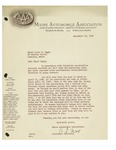 09/19/1947 Letter from Maine Automobile Association