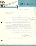 09/26/1947 Letter from Antoni & Co.