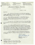 10/01/1947 Letter from Massachusetts Highway Association