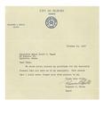 10/10/1947 Letter from Auburn Mayor Rosaire Halle