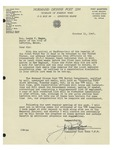 10/11/1947 Letter from V.F.W. Normand Dionne Post 2299