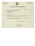 10/28/1947 Letter from the Lewiston Fire Department