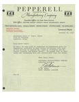 10/30/1947 Letter from the Pepperell Manufacturing Company