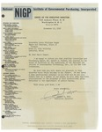 11/12/1947 Letter from the National Institute of Government Purchasing