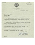11/18/1947 Letter from the City of South Portland Maine by J. Harold Webster