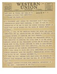 11/22/1947 Western Union Telegram by Charles Luckman
