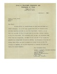 12/02/1947 Letter from the Town of Porter-Kezar Falls, Maine