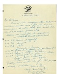 12/03/1947 Letter from Les Hirondelles Club by Marie Ange Paré