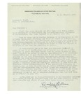12/11/1947 Letter from the Associated Colleges of Upper New York by G. Rosenberg de La Marre