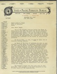 12/12/1947 Letter from the State of Maine Publicity Bureau by John C. Page Jr.