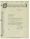 12/17/1947 Letter from the State of Maine Publicity Bureau by Guy P. Butler