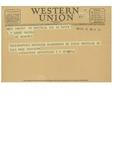 12/17/1947 Western Union Telegram by P. D. Renaud