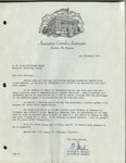 12/01/1947 Letter from l'Association Canado-Américaine