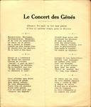 Les Concert des Genes [Program] by Unknown