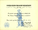 1945 United States Treasury Department Award by United States Treasury Department