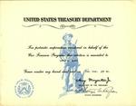1945 United States Treasury Department Award