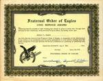 1947 Fraternal Order of Eagles Civic Service Award