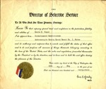 1943 Reemployment Commiteeman Certificate by Selective Service of the United States