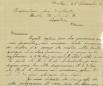 12/25/1938 Letter from Association des Vaillants by Lionel Sylvestre