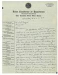 11/24/1934 Letter from Union Canadienne de Raquetteurs by Raoul Charbonneau