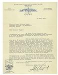 04/11/1931 Letter from J. Arthur Dupont by J. Arthur Dupont