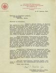 Letter from Paul-Emile Gosselin, Secretary General of Québec