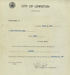 Louis-Philippe Gagné Alderman Notification from the City Clerk of Lewiston, Maine