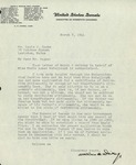 Letter from Wallace H. Whitey, United States Senate Commitee on Interstate Commerce