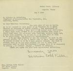 Letter from Marion Cobb Fuller to Olivier V. Pelletier