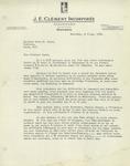 Letter from J. Emile Lussier of J.E. Clément Incorporée