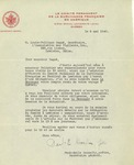Letter from Paul-Emile Gosselin, Secretary L'Association des Vigilants