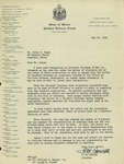 05/19/1944 Letter from the State of Maine Civilian Defense Corps. by F. H. Farnum