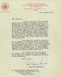 Letter from Paul-Eugène Gosselin of le Comité Permanent de la Survivance Française en Amérique