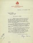 Letter from Roger Varin of Sociéte Saint-Jean-Baptiste De Montréal