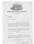 12/08/1941 Letter from Association Canado-Americaine