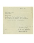 03/05/1948 Letter from the Lewiston High School Band Booster Club by Hester B. Hunter