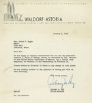 01/5/1948 Letter from The Waldorf-Astoria
