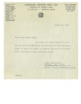 03/30/1948 Letter from V. F. W. Normand Dionne Post 2299