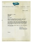 04/09/1948 Letter from Bates Manufacturing Company, Lewiston, Maine by Theodore Roscoe