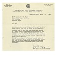 04/20/1948 Letter from the Lewiston Fire Department by Zephirin F. Drouin