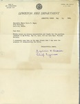 05/15/1948 Letter from the Lewiston Fire Department by Zephirin F. Drouin