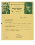 04/20/1948 Letter from the Maine Boxing Association by Sam Michael