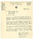 04/30/1948 Letter from V. F. W. Normand Dionne Post 2299 by Elwood F. Ross