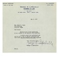 05/01/1948 Letter from George O. Rochelle, Attorney at Law by George O. Rochelle