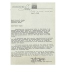 05/07/1948 Letter from WCSH Broadcasting Station, Portland, Maine