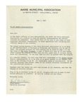 05/07/1948 Letter from the Maine Municipal Association