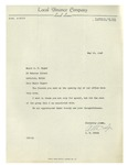 05/19/1948 Letter from the Local Finance Company, Lewiston, Maine
