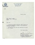 05/25/1948 Letter from the Law Department of the City of New York